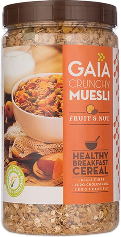 GAIA Crunchy Muesli Fruit and Nut 1 kg Jar(1 kg, Plastic Bottle)