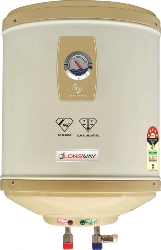 LONGWAY 15 L Storage Water Geyser (SUPERB GLASS LINED, Grey)
