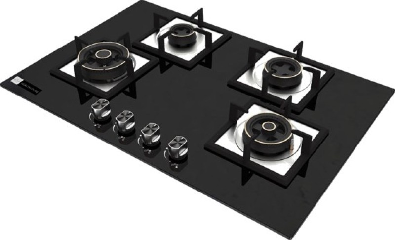 Health Pure swift b Glass Automatic Gas Stove(4 Burners)