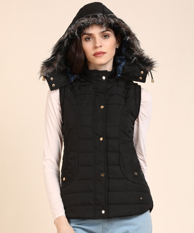 Monte Carlo Sleeveless Solid Women Jacket