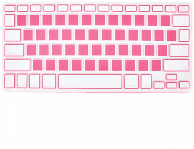 Tobo Pink and White Keyboard Skin Cover Laptops Keyboard Skin(White, Pink)