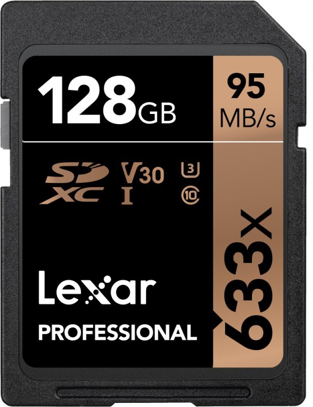 Lexar 633x 128 GB SDXC Class 10 95 Mbps Memory Card