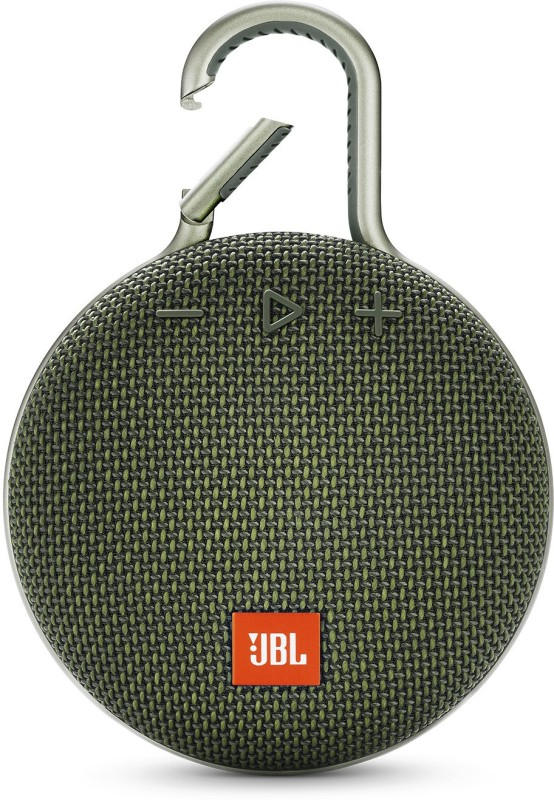 JBL CLIP 3 Bluetooth Speaker(Green, Stereo Channel)