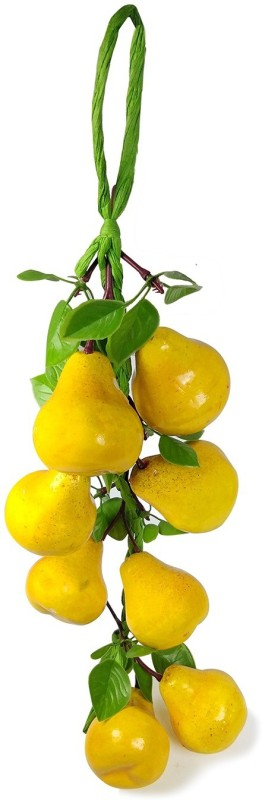 Crystu Artificial Yellow Pear for Decorate Kitchen Wall Hanging And Parties Restaurants Table Centerpiece Décor Pack of 1 pc Artificial Fruit(Set of 1)