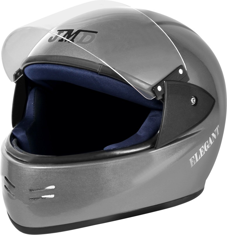 JMD Elegant Full Face (SILVER, L) Motorbike Helmet(Silver)