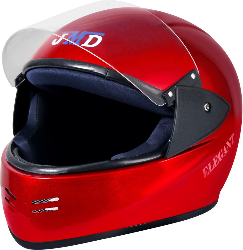 JMD Elegant Full Face (RED, L) Motorbike Helmet(Red)