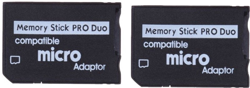 YTM (Pack of 2) Micro Sd Sdhc TF to Memory Stick Ms Pro Duo Card Reader PSP Adapter Converter Card Reader(Black)