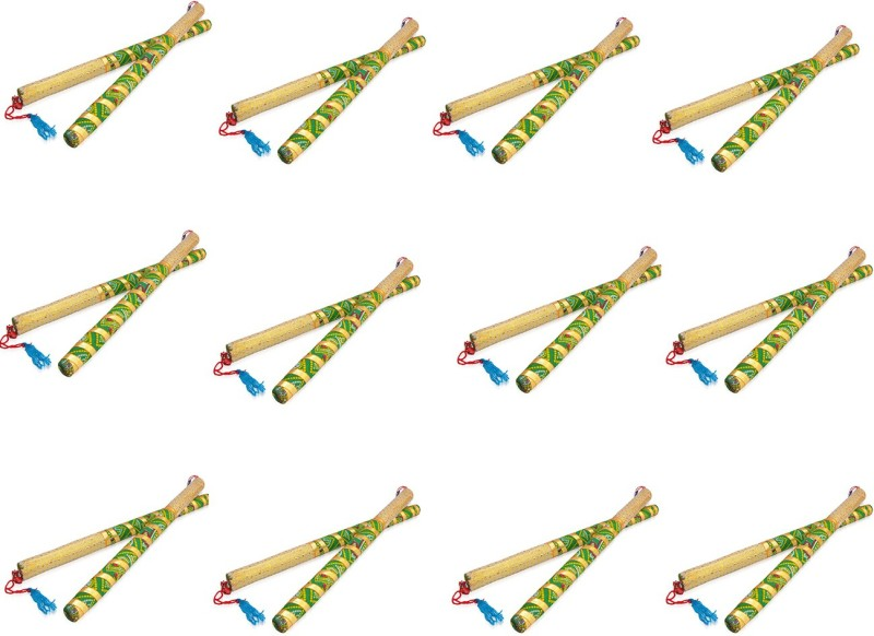 Tuski Pack of 12 Pair Dandia Sticks(Multicolor)