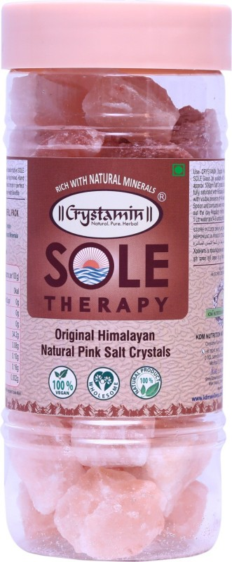Crystamin Original Natural Himalayan Pink Rock Salt Crystal - Sole Therapy Himalayan Pink Salt(1 kg)