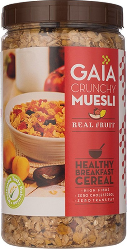 GAIA Crunchy Muesli with real fruit. Burst of flavor in every bite. 1KG(1 kg, Plastic Bottle)