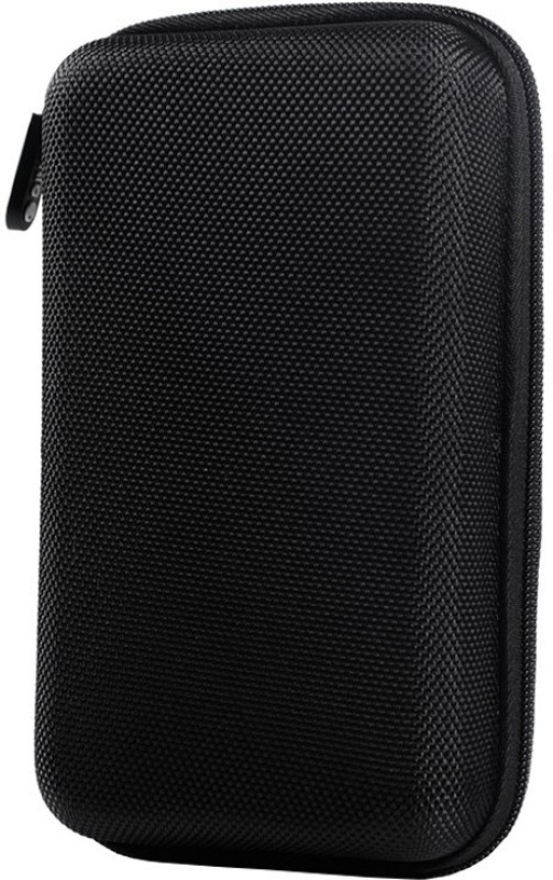 TEQGO External Hard Drive Cover Hard Disk Cover HDD case HDD Casing Carry Bag Pouch 2.5 Case / Pouch 2.5 inch ZIP CASE / POUCH(For All 2.5 Inch External Hard drives, Black)