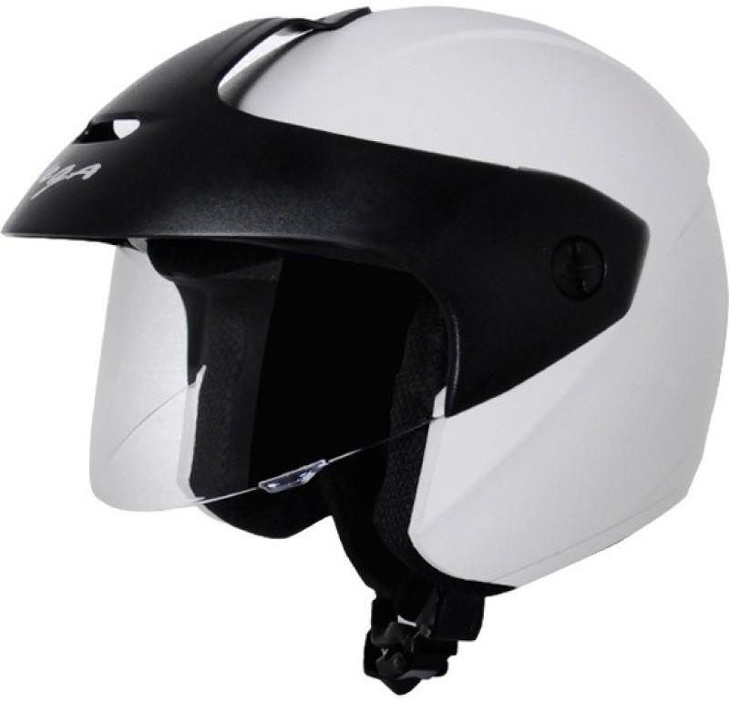 VEGA Ridge With Peak White Motorsports Helmet(White)