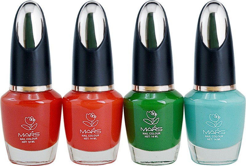 Mars Disco Matte Pack of 4 nail polish Disco-3(Pack of 4)