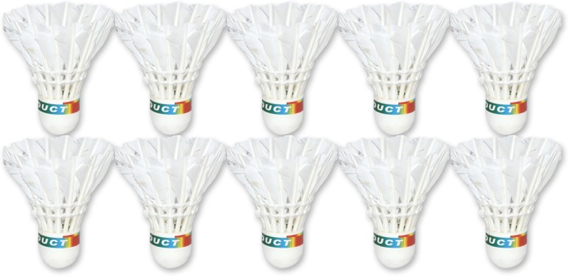 Skyglobe Freedom Feather Shuttle – Multicolor (Pack of 10) Feather Shuttle  - Multicolor, White(Medium, 77, Pack of 10)