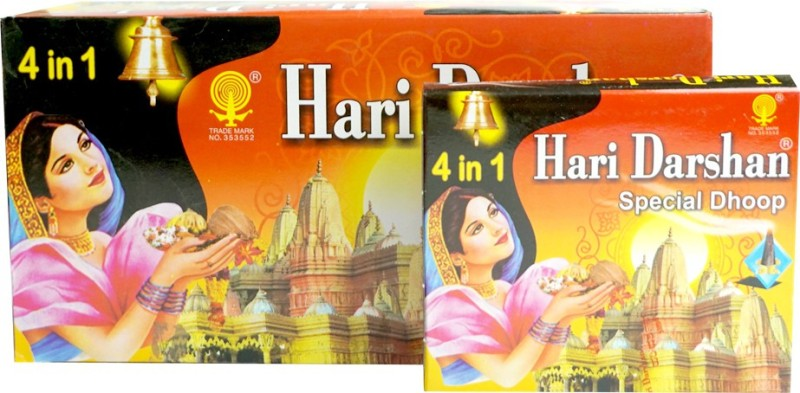 Hari Darshan Special Four in One Dhoop Cone(Pack of 12)