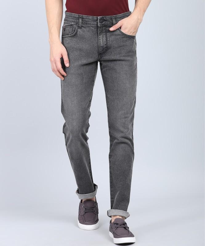 John Players Slim Men Grey Jeans