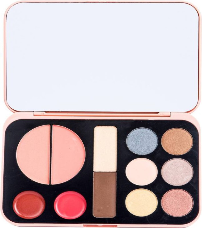LUV-LI PRO FOREVER NUDES 2 BLUSHER, 2 LIPGLOSS, 2 HIGHLIGHTER, 6 EYESHADOW MAKEUP KIT