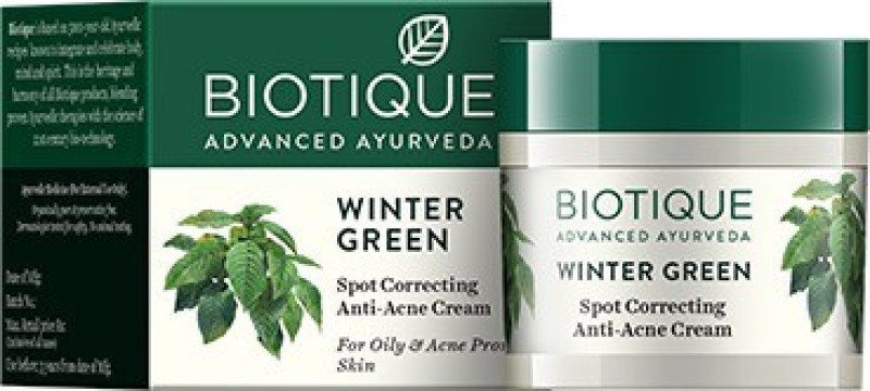 Biotique Bio Winter Green Spot Correcting Anti Acne Cream(15 g)