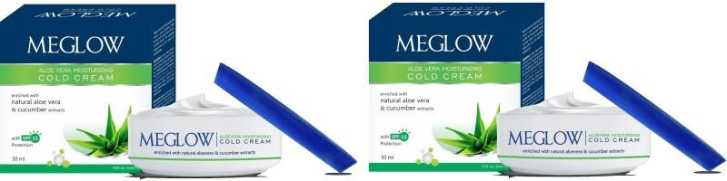Meglow Natural Aloe vera & cucumber Cold Cream With Sun protection Moisturizing Cream(100 g)