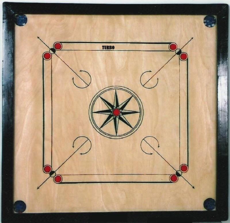 TURBO TOP QUALITY Medium 30 inch Carrom Board(Beige)