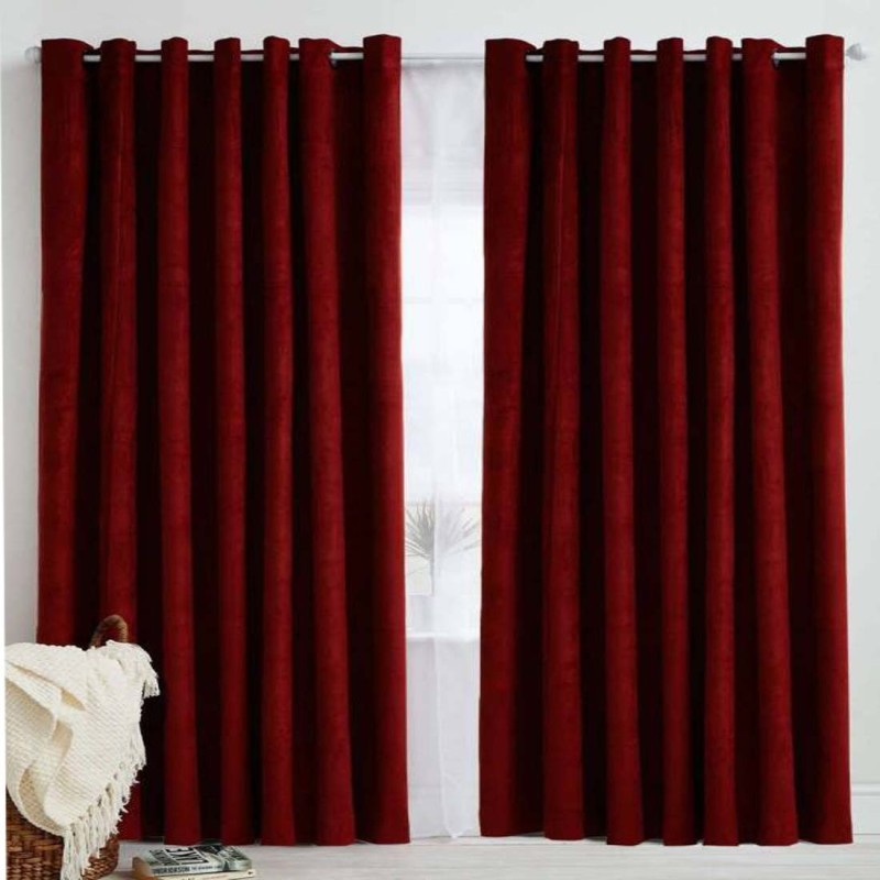check MRP of maroon color curtains Soulful Creations