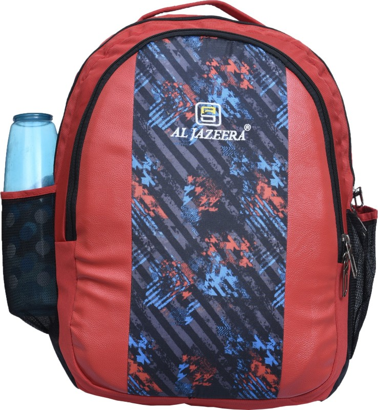 Al Jazeera Unisex Printed Backpack 20 L Backpack(Black, Red)