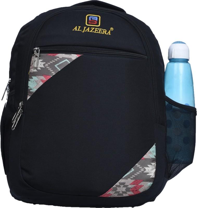 Al Jazeera Unisex Printed Backpack 20 L Backpack(Black)