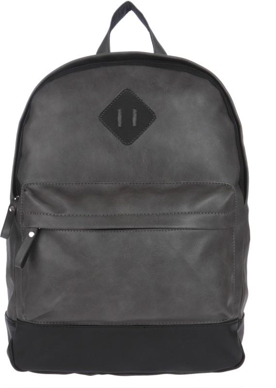 Fur Jaden Grey Leatherette Waterproof Laptop Backpack 20.0 Laptop Backpack(Grey)