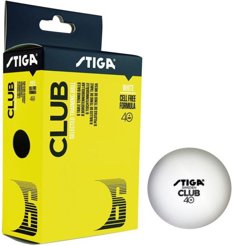 Stiga Club 40+ (PLASTIC) Table Tennis Ball(Pack of 2, White)