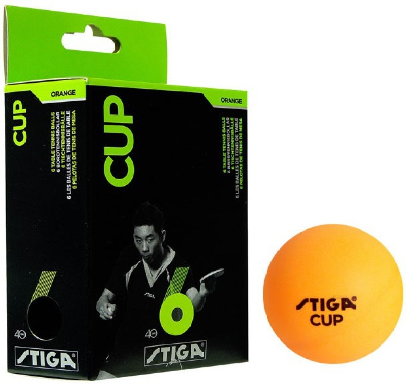 Stiga Cup Ping Pong Table Tennis Ball(Pack of 2, White)