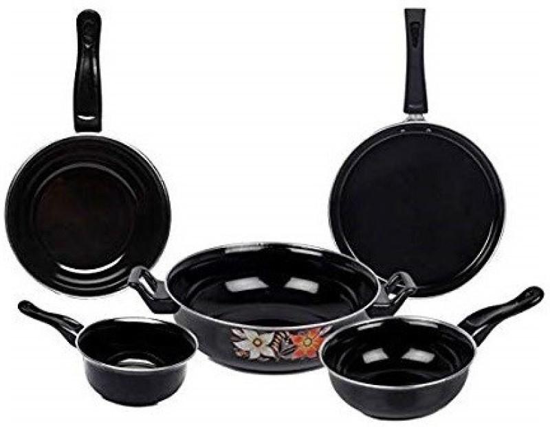 JVS plastics COOKWARE SET 5 PIECE Induction Bottom Cookware Set(Stainless Steel, 5 - Piece)