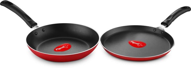 Pigeon Pigeon Duo Pack Nonstick cookware set , Fry pan and tawa Cookware Set(Aluminium, 2 - Piece)