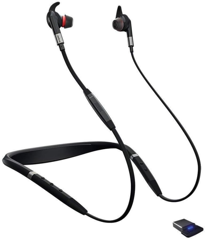 Jabra Bluetooth Wireless-Mic - Noise-Canceling Bluetooth Headset with Mic(Black, In the Ear)