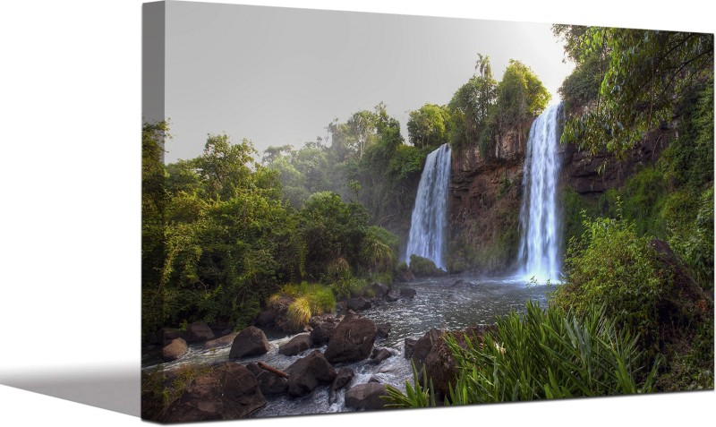 Aart Store Iguazu Waterfalls Nature Canvas Wall Painting For Home Décor/ Living Room/ Bedroom Canvas 20 inch x 30 inch Painting