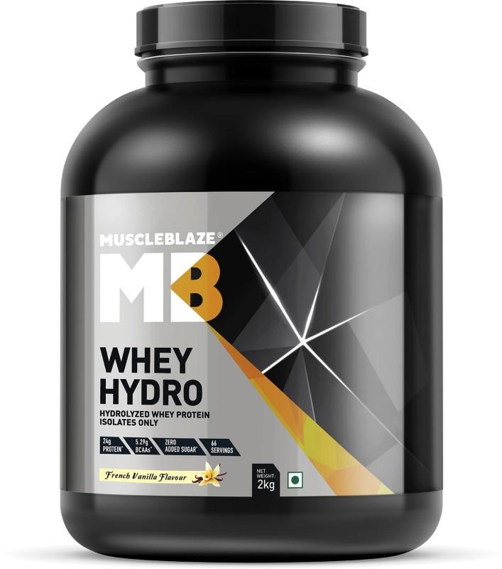 MuscleBlaze Whey Hydro Whey Protein(2 kg, French Vanilla)