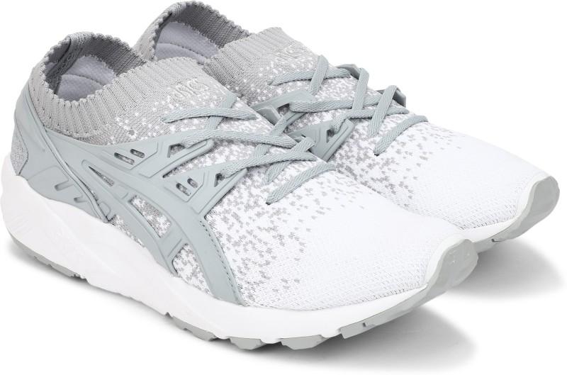 Asics Tiger GEL-KAYANO TRAINER KNIT Running Shoes For Men(White, Grey)