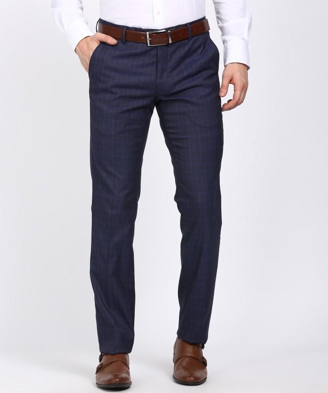 John Miller Slim Fit Men's Blue Trousers