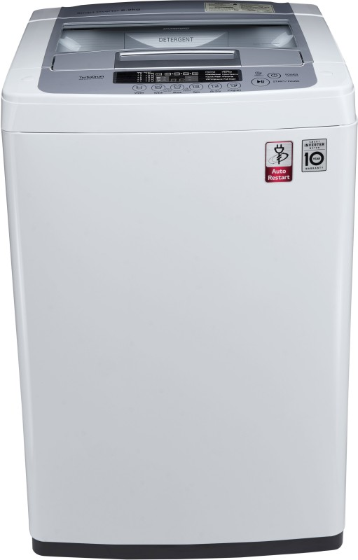 LG 6.2 kg Inverter Fully Automatic Top Load Washing Machine White, Silver(T7269NDDL)
