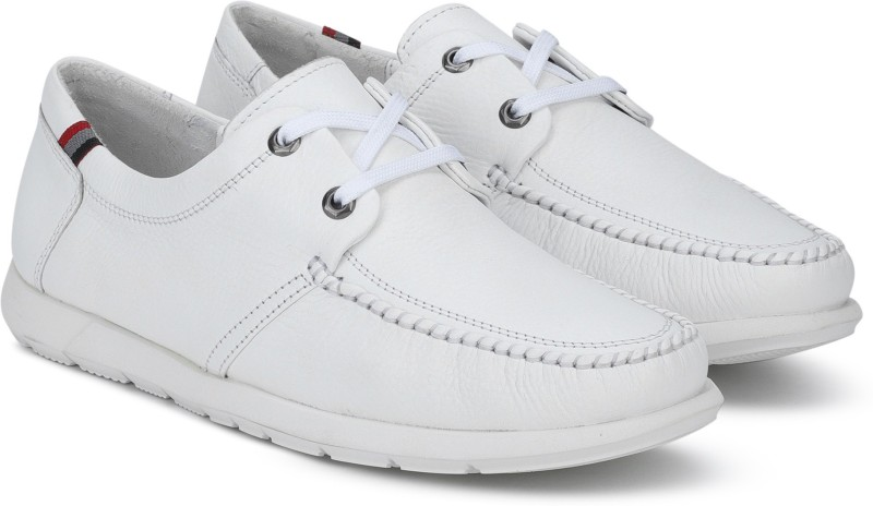 Woodland 8907438879852 Boat Shoes For Men(White)
