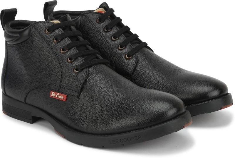 Lee Cooper Boot Shoes For Men(Black)