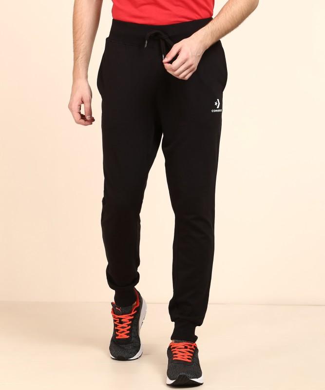 Converse Solid Men's Black Track Pants