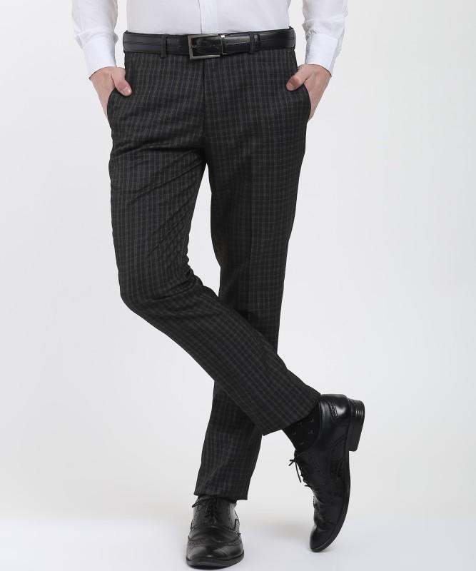 John Miller Slim Fit Men's Grey Trousers