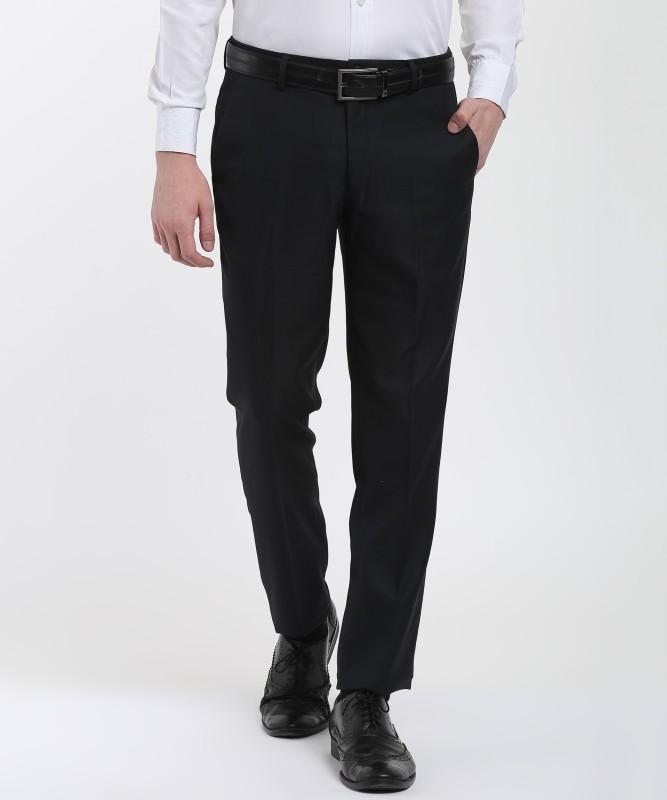 John Miller Slim Fit Men's Black Trousers