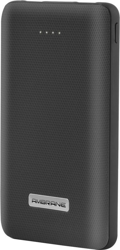 Ambrane 10000 mAh Power Bank(Black, Lithium Polymer)