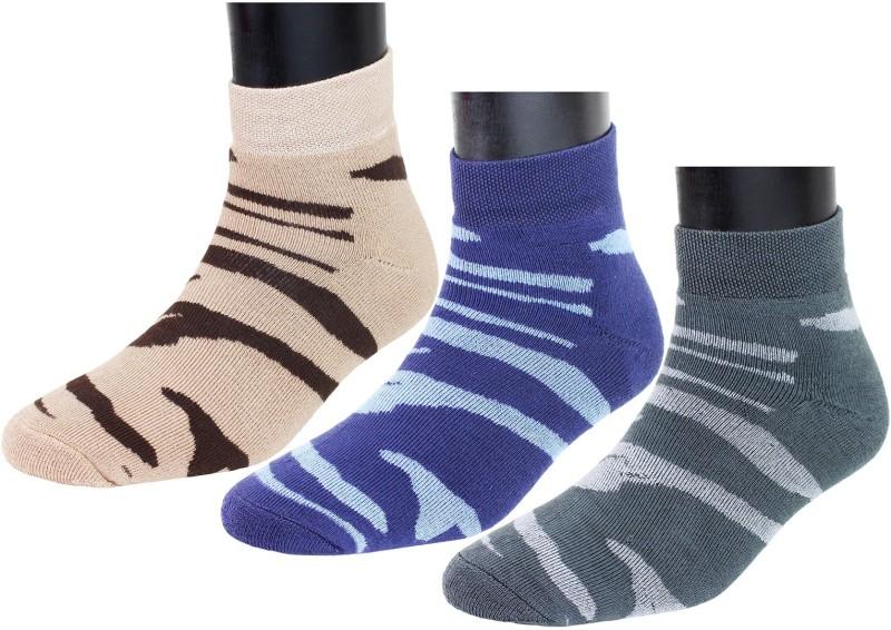 Top N Toe Men Printed Ankle Length(Pack of 3)