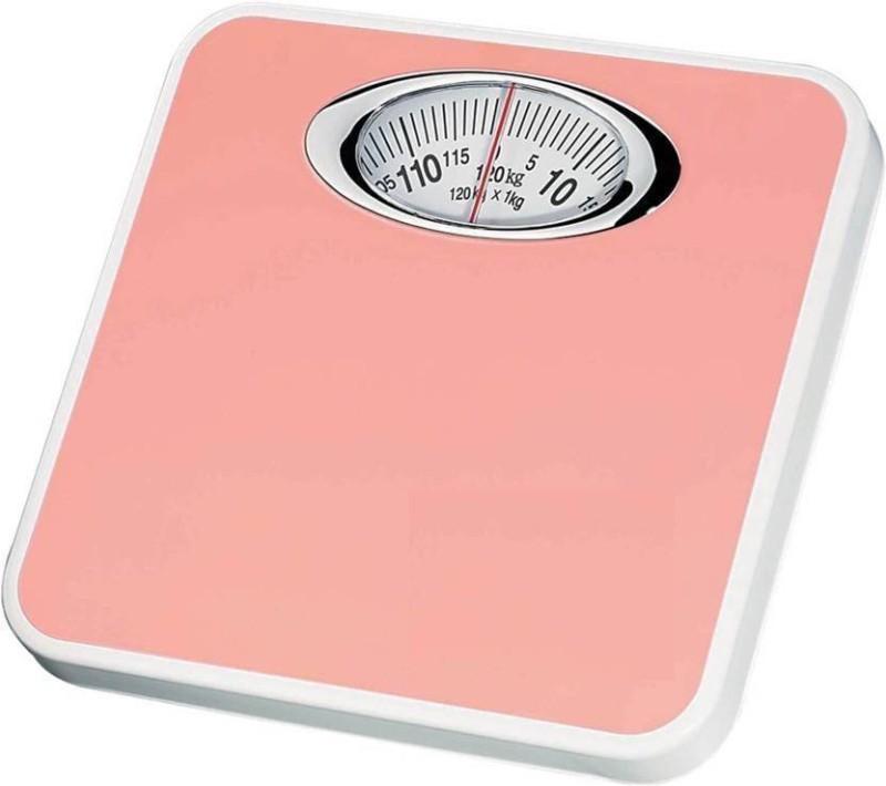 Granny Smith Virgo Analog Weight Machine Capacity 130Kg Manual Mechanical Full Metal Body Analog Weighing Scale(Pink)