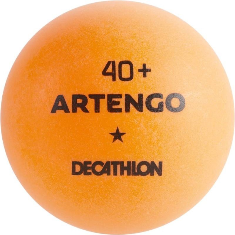 DECATHLON TABLE TENNIS BALLS TTB 100*40 12 PACK - ORANGE Table Tennis Ball(Pack of 12, Orange)
