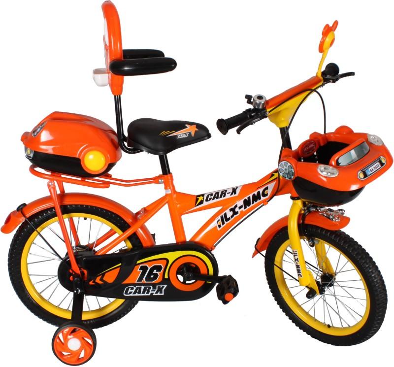 HLX-NMC Car design premium 16 - inch kids bicycle - Black/Orange 14 T Recreation Cycle(Single Speed, Black, Orange)