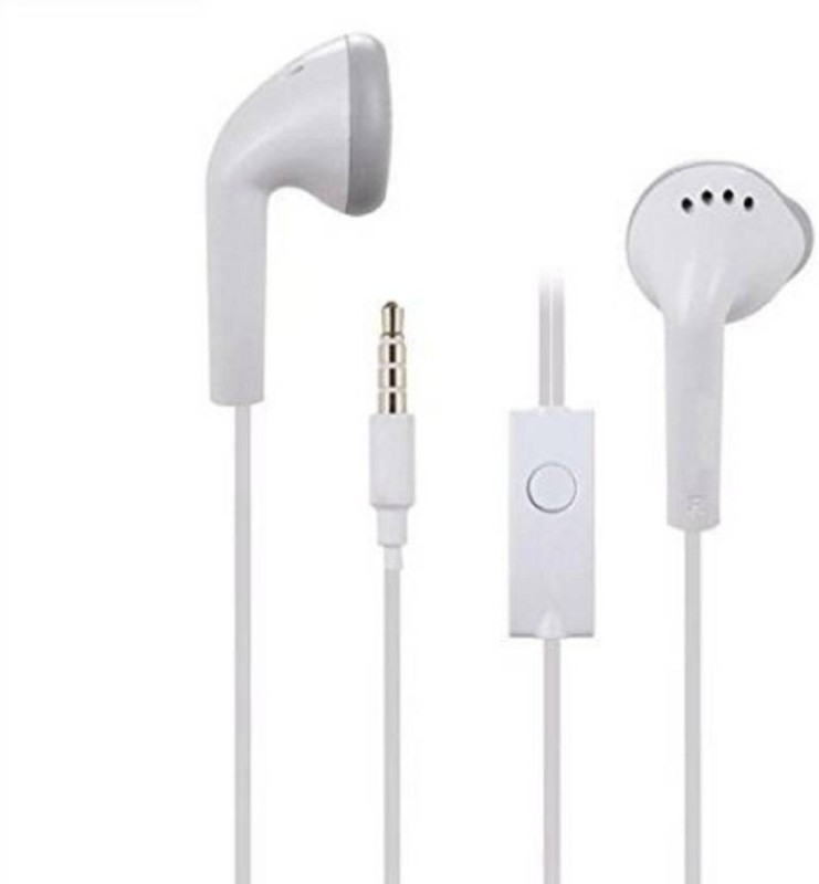 VR world Earphone deep bass on mobile Wired Headset with Mic(White, In the Ear)