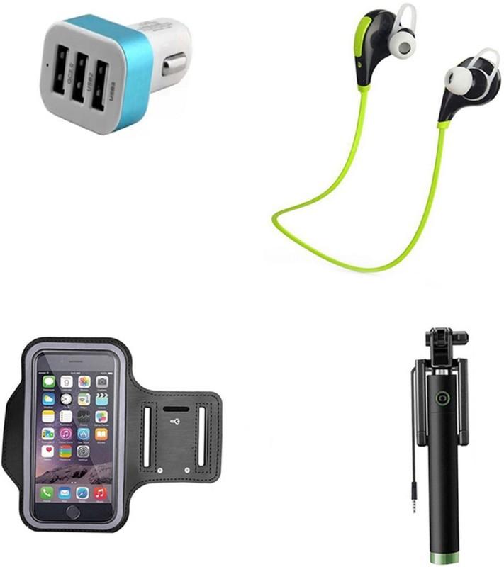 DAKRON Selfie Stick Accessory Combo for Intex Staari 12(Multicolor)
